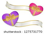 purple and pink hearts shaped...   Shutterstock . vector #1275731770