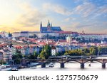 prague city view with manes... | Shutterstock . vector #1275750679