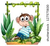 illustration of a monkey with a ... | Shutterstock .eps vector #127575830