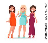 happy women celebrate and hold... | Shutterstock .eps vector #1275760750