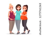 group of pregnant women are... | Shutterstock .eps vector #1275761263