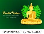 happy buddha purnima monk phra... | Shutterstock .eps vector #1275766366