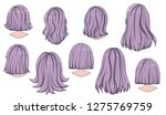 beautiful hairstyle of woman... | Shutterstock .eps vector #1275769759