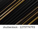 abstract dark black gold metal  ... | Shutterstock . vector #1275774793