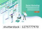 web page design templates for... | Shutterstock .eps vector #1275777970