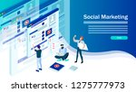 web page design templates for... | Shutterstock .eps vector #1275777973