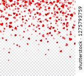 valentines day background with... | Shutterstock .eps vector #1275793759