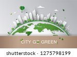 concept of eco with building... | Shutterstock .eps vector #1275798199