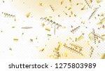 modern realistic gold tinsel... | Shutterstock .eps vector #1275803989