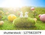 two child rabbits toys having... | Shutterstock . vector #1275822079