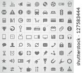 web application icons collection | Shutterstock .eps vector #127583444