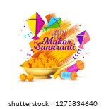 vector holiday illustration.... | Shutterstock .eps vector #1275834640