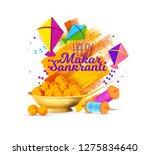 vector holiday illustration.... | Shutterstock .eps vector #1275834640