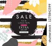 sale website banner. sale tag....   Shutterstock .eps vector #1275842599
