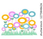cute blooming flowers in the...   Shutterstock .eps vector #1275848626