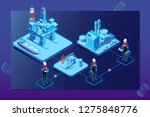 oil gas industry isometric... | Shutterstock .eps vector #1275848776