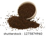 perilla herb seed on white... | Shutterstock . vector #1275874960