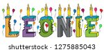 leonie female first name bitten ... | Shutterstock .eps vector #1275885043