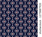 geometric ethnic pattern... | Shutterstock .eps vector #1275887920