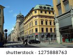 oslo downtown in sunny day.... | Shutterstock . vector #1275888763