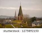 shot showing various rooftops... | Shutterstock . vector #1275892153