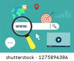 concepts for search engine... | Shutterstock .eps vector #1275896386