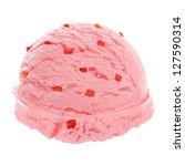 Strawberry Ice Cream Scoop Wit...