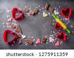 valentine day baking concept ... | Shutterstock . vector #1275911359