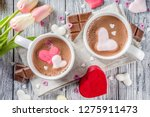 valentines day treat ideas  two ... | Shutterstock . vector #1275911473