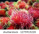 nutritious rambutan fruits | Shutterstock . vector #1275915220