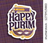 logo for happy purim  poster... | Shutterstock . vector #1275915883