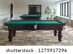 beautifully decorated billiard... | Shutterstock . vector #1275917296