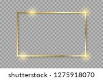 golden luxury shiny glowing... | Shutterstock .eps vector #1275918070