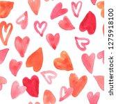 seamless pattern watercolor... | Shutterstock . vector #1275918100