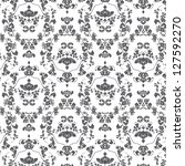 seamless damask pattern | Shutterstock .eps vector #127592270