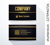 business card. modern black and ... | Shutterstock .eps vector #1275946726