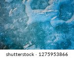 texture of ice blue surface.... | Shutterstock . vector #1275953866