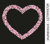 pink glitter dots confetti on...   Shutterstock .eps vector #1275954739