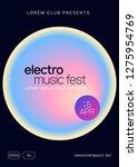 summer music. fluid holographic ... | Shutterstock .eps vector #1275954769