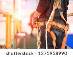 construction worker use safety... | Shutterstock . vector #1275958990