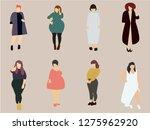 overweight woman vector | Shutterstock .eps vector #1275962920