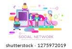 social networking concept  ...   Shutterstock .eps vector #1275972019