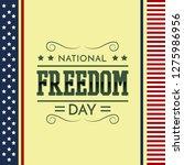 national freedom day...   Shutterstock .eps vector #1275986956
