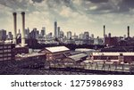 cityscape from brooklyn with... | Shutterstock . vector #1275986983