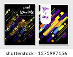card template abstract vector... | Shutterstock .eps vector #1275997156