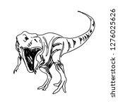 vector line sketch of... | Shutterstock .eps vector #1276025626