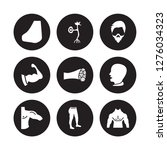 9 vector icon set   nose side... | Shutterstock .eps vector #1276034323
