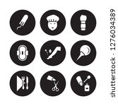 9 vector icon set   tampon ... | Shutterstock .eps vector #1276034389