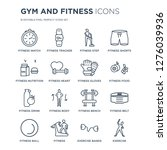 16 linear gym and fitness icons ... | Shutterstock .eps vector #1276039936