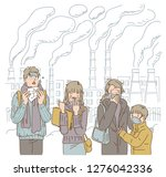 people wearing protective face ... | Shutterstock .eps vector #1276042336